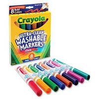 Фломастеры Crayola Crayola Washable Markers, Broad Point, Bold Colors, 8/Set