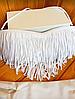 Купальник бандо с бахромой белый, фото 4