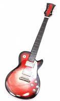 Гитара миниатюра дерево красная (24х8х1,5 см)