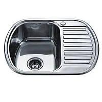 Кухонная мойка из нержавейки TRION 6249 Гладкая 0.7 mm