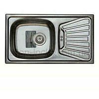 Мойка накладная кухонная врезная TRION 7843 Гладкая NEW 0.7 mm