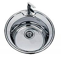 Мойки на кухню из нержавейки врезная TRION 5151 Круглая Декор 0.8 mm
