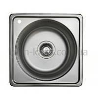 Угловая мойка для кухни врезная TRION 4040 Гладкая 0.7 mm