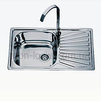 Угловая мойка для кухни врезная TRION 7848 Декор 0.8 mm
