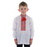 Детская вышиванка для мальчика с геометрическим орнаментом, фото 1