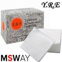 YRE Тканевые безворсовые салфетки SSV-06 (6x10см) 100шт
