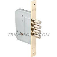 Механизм дверей врезной KALE 189 4MF 3 ключа 4 ригеля Латунь на блистере