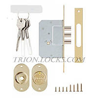 Механизм дверей врезной KALE 189 3MF 5 ключей 3 ригеля Латунь