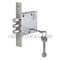 Замки для дверей врезной KALE 447 L 5 ключей Никель