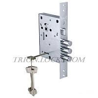 Замки для дверей врезной KALE 442 L 5 ключей Никель