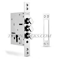Замки для дверей врезной KALE 287 D бексет 60 мм з поворотным ригелем Хром