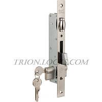 Замки для пластиковых дверей врезной KALE 255 для для алюминиевых дверей з цил 164GNC (26+10+26) Никель