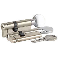 Цилиндры Kale 164 KTB S  30+10+30 70 mm никель с поворотником 5 ключей