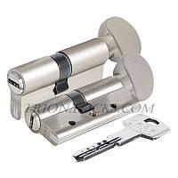 Вставка для замка KALE 164 DBNEM 35+10+35: 80 mm с поворотником никель 5 ключей