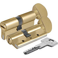 Вставка для замка KALE 164 DBNEM 35+10+35: 80 mm с поворотником латунь 5 ключей