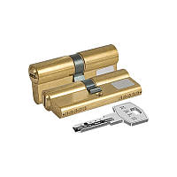 Сердцевина замка двери KALE 164 BNE 45+10+45: 100 mm латунь 5 ключей