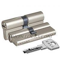 Сердцевина замка двери KALE 164 BNE 40+10+40: 90 mm никель 5 ключей