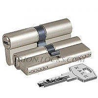 Вставка для замка KALE 164 BNE 45+10+45: 100 mm никель 5 ключей
