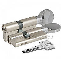 Сердцевина замка двери KALE 164 BM 35+10+35: 80 mm с поворотником на длиной стороне никель 5 ключей