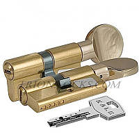 Сердцевина замка двери KALE 164 BM 30+10+40: 80 mm с поворотником на короткой стороне латунь 5 ключей