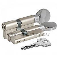 Сердцевина замка двери KALE 164 BM 40+10+40: 90 mm с поворотником никель 5 ключей