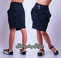 Юбка нарядная школьная ткань мадонна черная