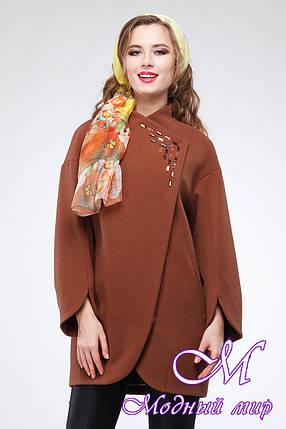 Женское шерстяное осеннее пальто (р. 44-52) арт. Пенелопа, фото 2