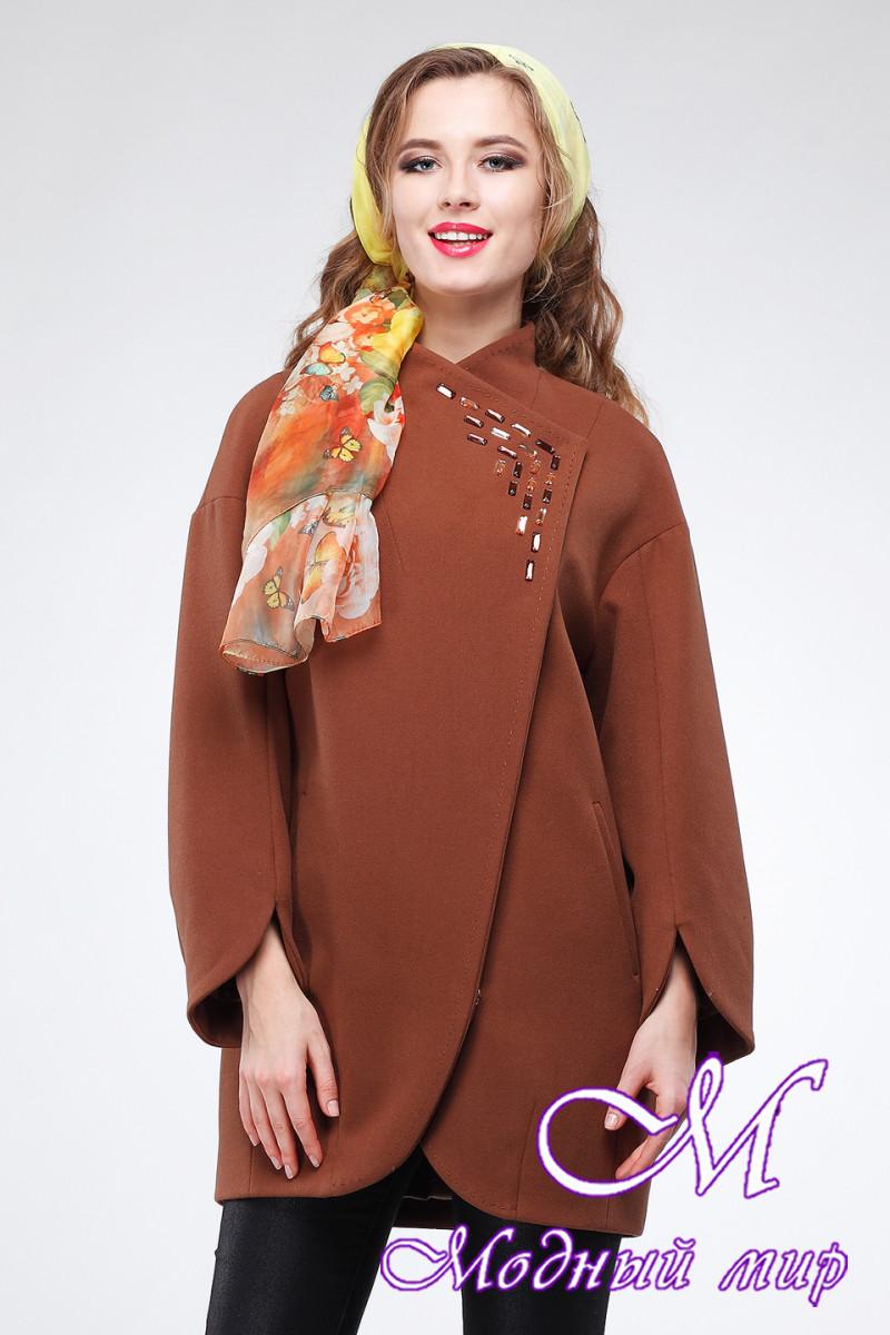 Женское шерстяное осеннее пальто (р. 44-52) арт. Пенелопа