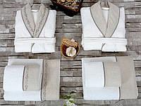 Набор Irya Hera - халат M/L+L/XL с полотенцами 90*150 (2 шт) + 50*90 (2 шт)