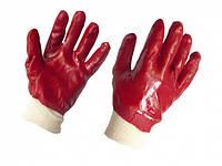 Рукавички робочі МБС з червоним покриттям еластичний манжет