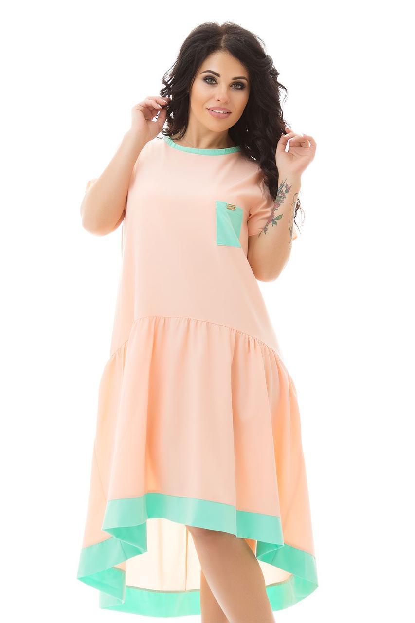 Стильное летнее платье большого размера