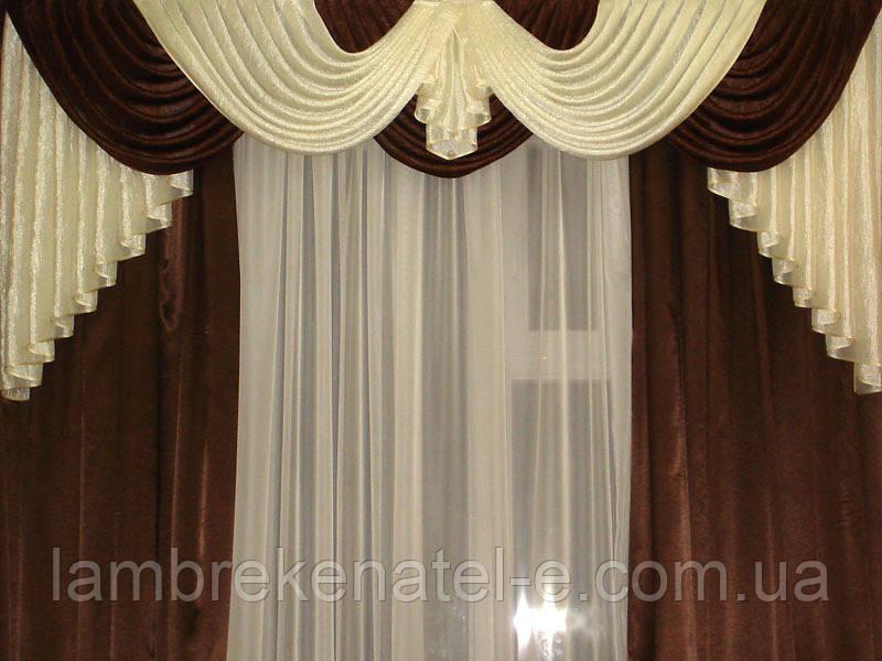 Ламбрекен шанзализе шторы