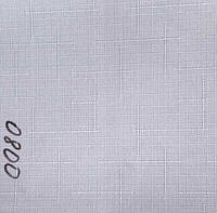 Рулонная штора Лён (530х1600). Белый. 0800