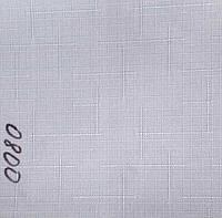 Рулонная штора Лён (630х1600). Белый. 0800