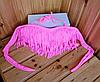 Розовый бандо с бахромой лиф, фото 2