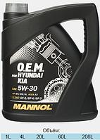 Оригинальное синтетическое моторное масло MANNOL 7713 O.E.M. for Hyundai, Kia 4L