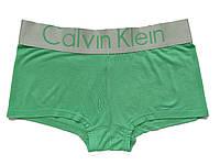 Женские трусы шортики Calvin Klein Steel модал зеленые