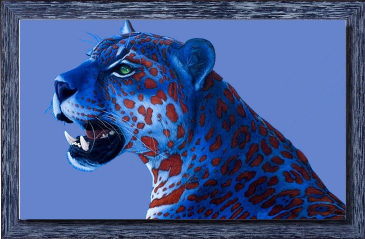 Репродукция современной картины «Ягуар с красными пятнами» 55 х 90 см