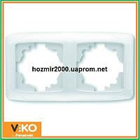 Двойная горизонтальная рамка Viko carmen