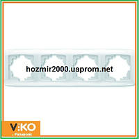Четверная горизонтальная рамка Viko carmen