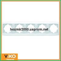 Пятерная горизонтальная рамка Viko carmen
