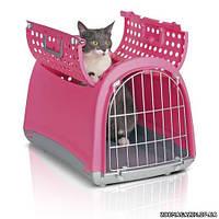 Imac ЛИНУС КАБРИО (LINUS CABRIO) переноска для собак и кошек, пластик, 50х32х34,5 см.