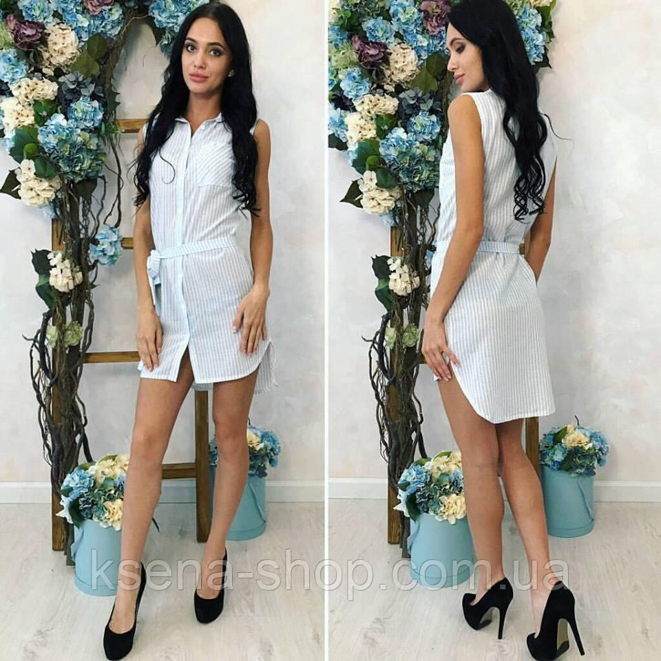 85d36176ac0 Женское платье-рубашка из льна - Магазин женской одежды ksena-shop.com.