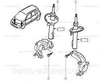 Амортизатор передний Рено сценик ll,гранд сценик ll 8200934066 оригинал Renault Харьков
