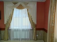 Ламбрекен из шанзализе со шторами