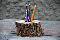 Эконайзер: органайзер из дерева круглый
