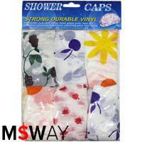 YRE Шапочка для душа 6шт Shower Caps 61927 прочная винил (плотная многоразовая цветная)