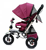 Детский трехколесный велосипед Baby trike CT-30 фиолетовый