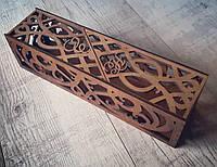 Деревянная коробка для бутылки вина