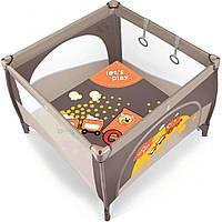 Детский манеж Play - Baby Design - Польша - удобный механизм с фиксатором от произвольного складывания